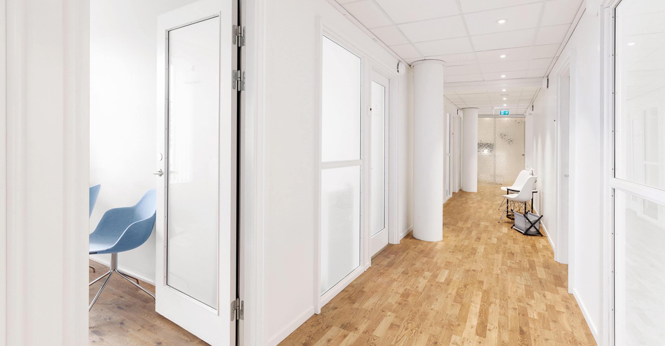 Öppet behandlingsrum på Nordiska Kliniken