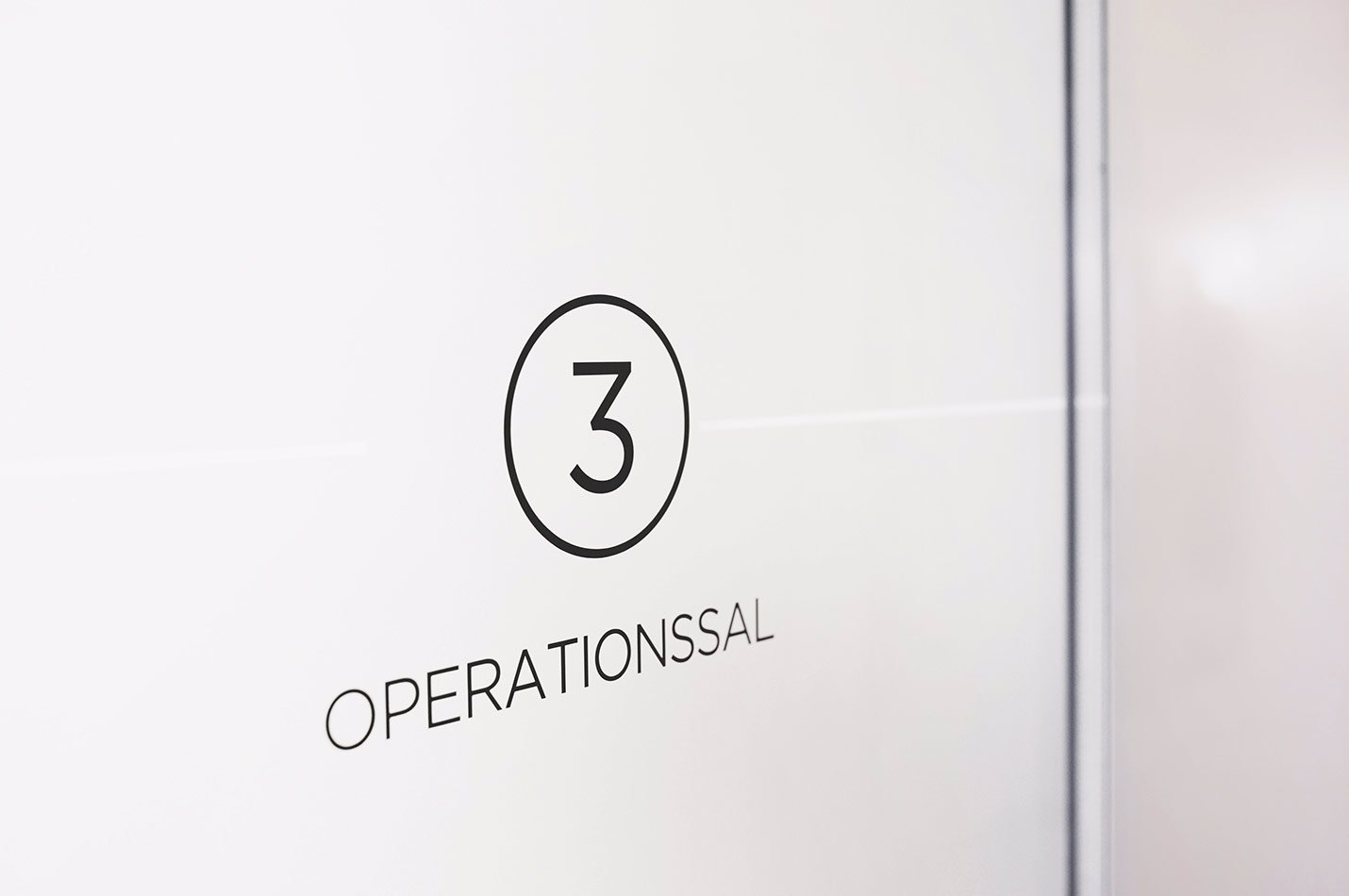 Operationssals dörr