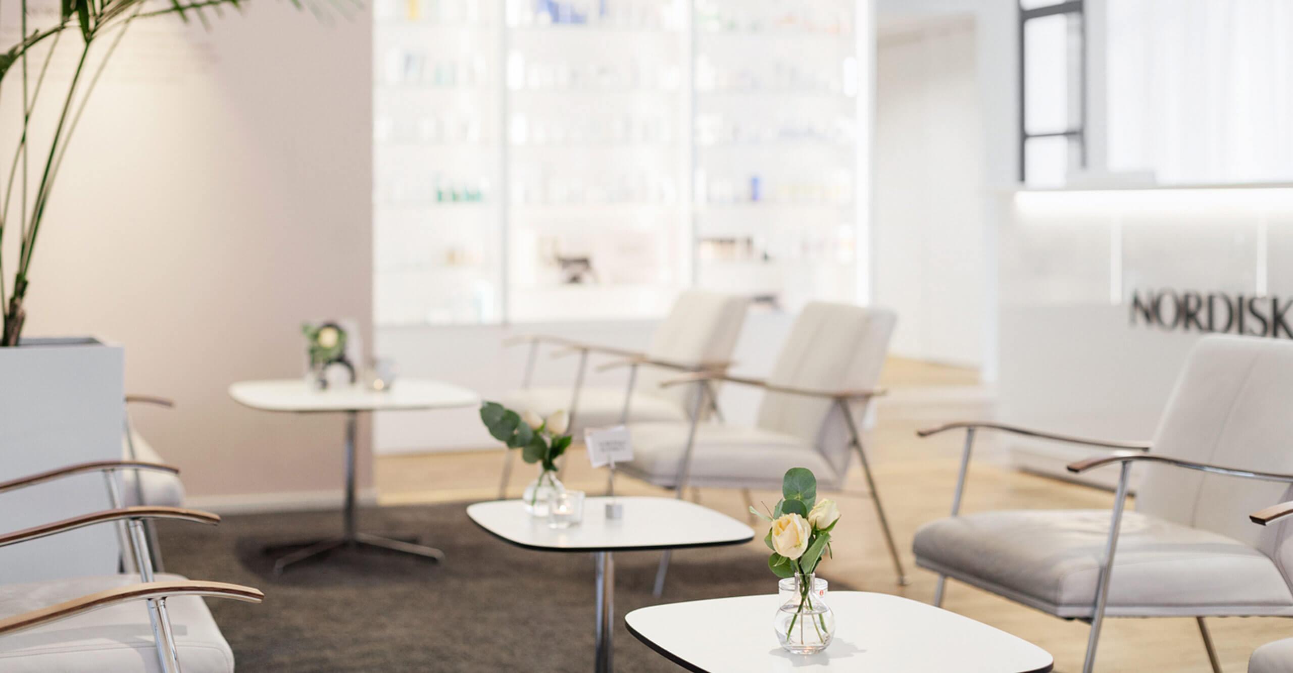 Receptionen på Nordiska Kliniken Sergels Torg