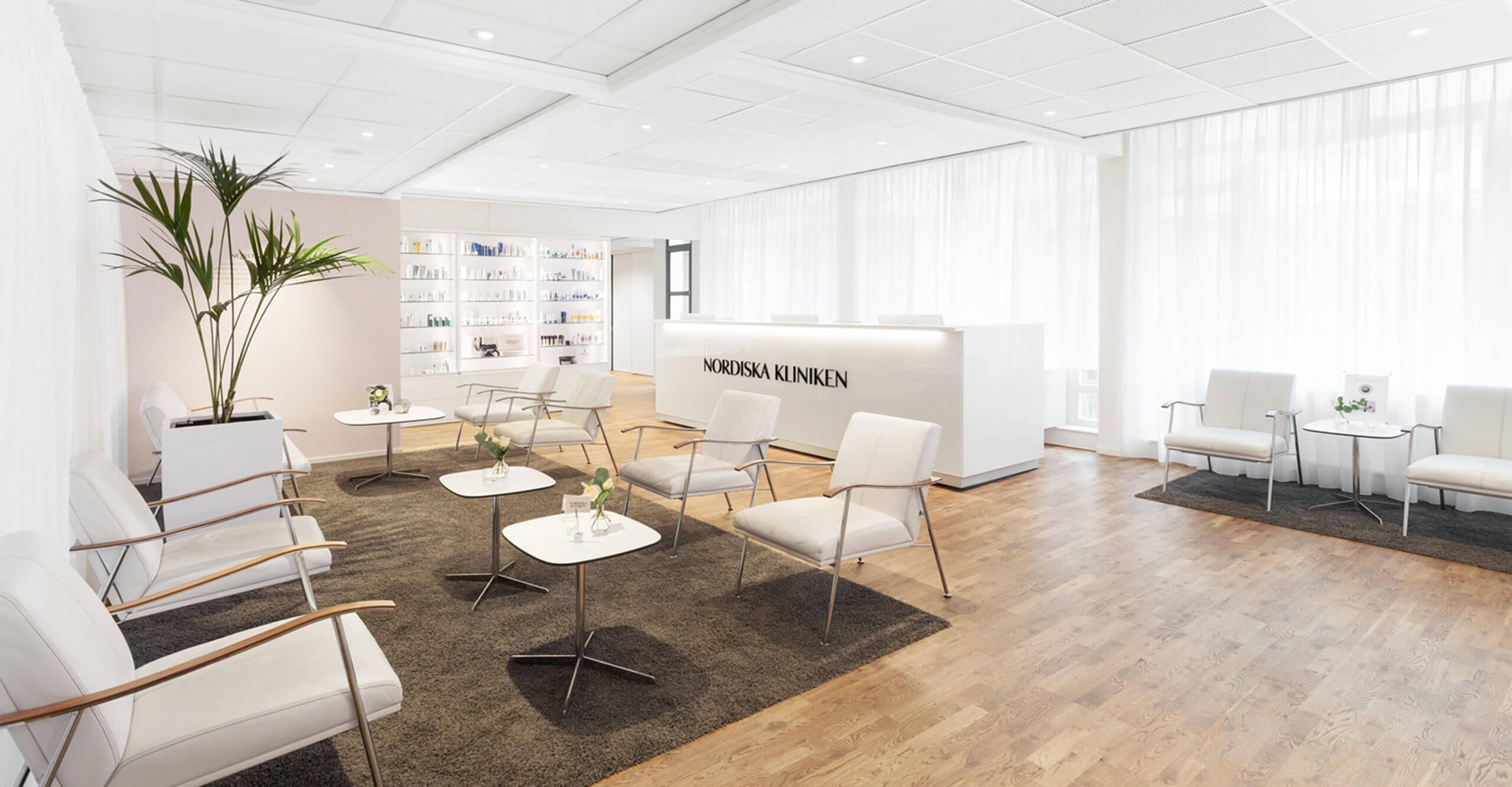 Nordiska Kliniken reception klinik stockholm