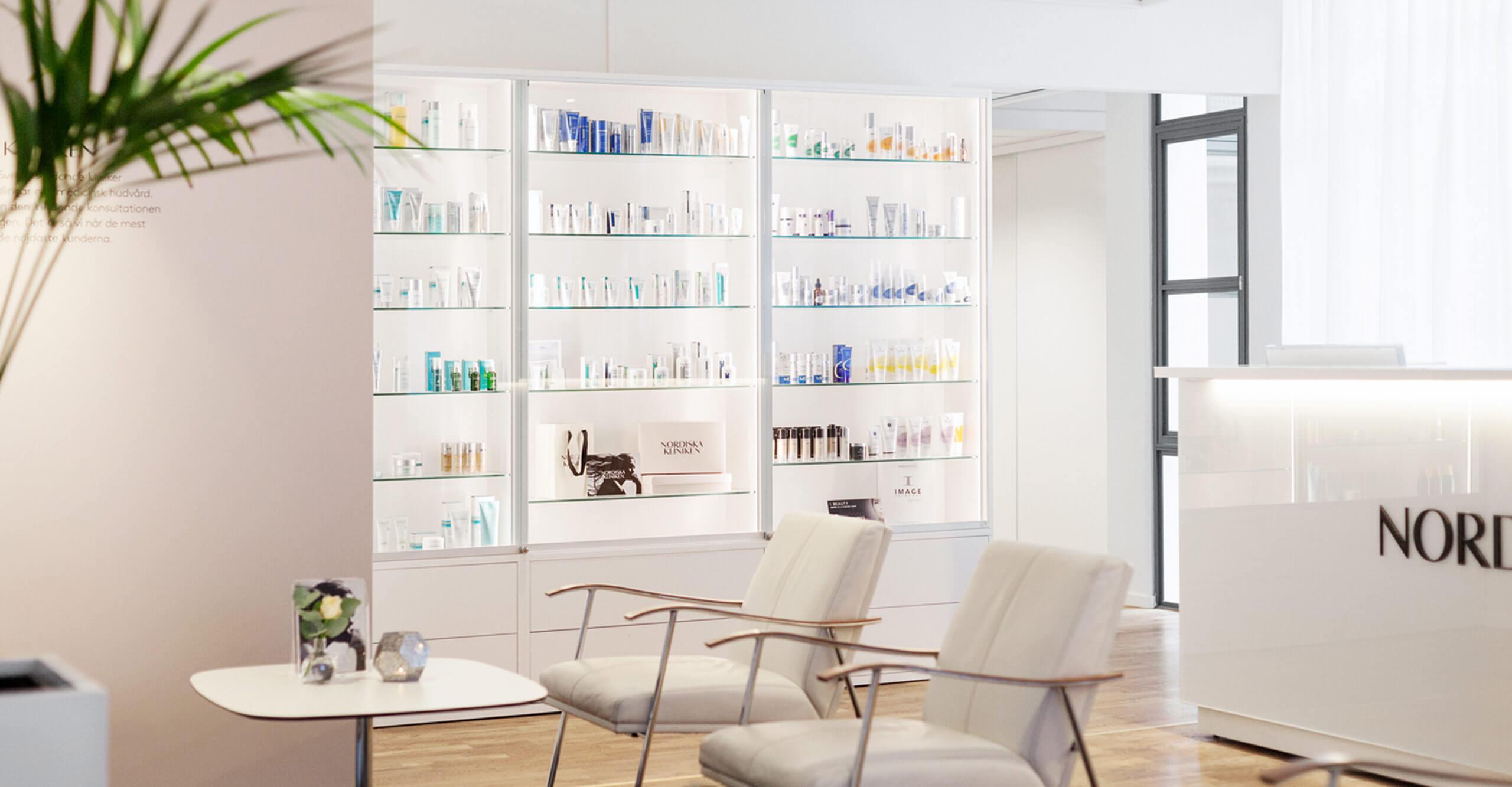 Nordiska Kliniken reception produkter image skincare exuviance neostrata