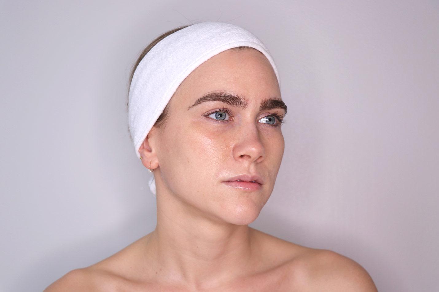 Ren och fin hud efter ansiktsmask
