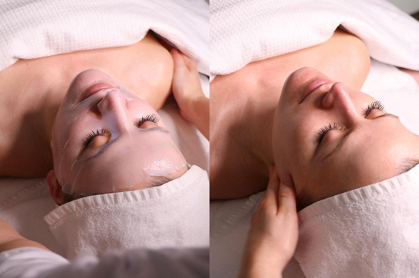 Patient genomgår ansiktsbehandling, Nordic Summer